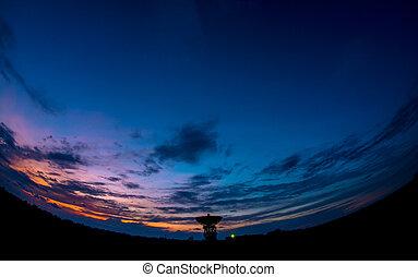 oscuridad, telescopio de radio, noche