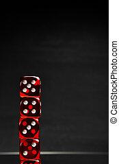 oscuridad, tema, casino, plano de fondo