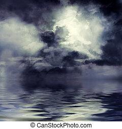 oscuridad, tempestuoso