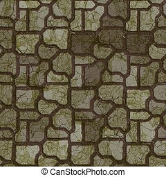oscuridad, texture., seamless, pavement.