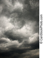 oscuridad, tormenta, clouds.