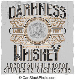 oscuridad, whisky, cartel