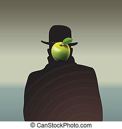 oscuro, uomo, silhouette, faccia