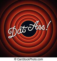 osel, kruh, text, -, dat, grafické pozadí, červeň