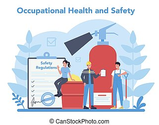 OSHA concept. Occupational safety and health administration...