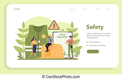 OSHA concept web banner or landing page. Occupational safety...