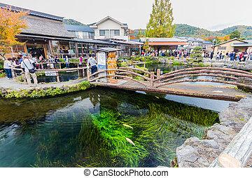 Oshino Hakkai, a small village in the Fuji Five Lake region.