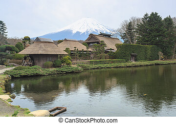 Oshino Hakkai a small village in the Fuji five lake region.