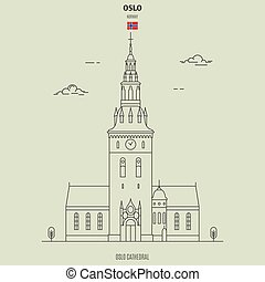 Oslo Cathedral, Norway. Landmark icon