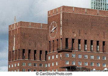 City Hall (Radhuset) famous landmark of Oslo, Capital of Norway