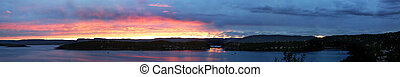 Oslo Fjord Panarama (23.86 MP) - A panarama of Oslo Fjord at...