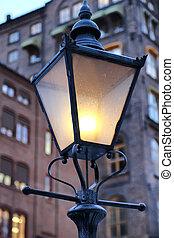 oslo, lampada, strada