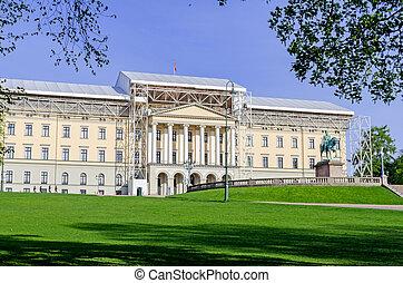 oslo, restaurazione, palazzo reale, sotto
