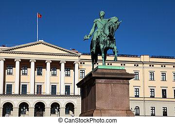 Oslo Royal Palace - The Royal Palace (Slottet) in Oslo, the...