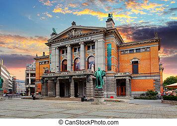 oslo, théâtre national, norvège