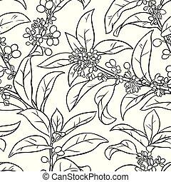osmanthus seamless pattern