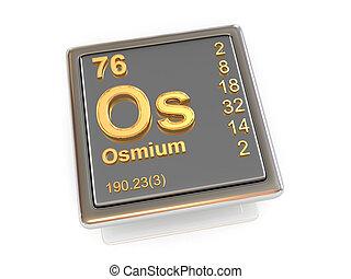 Osmium. Chemical element.