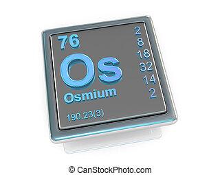 osmium., chemisch, element.