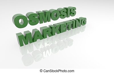 Osmosis Marketing 3D text - - high quality three dimensional...