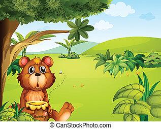 oso, abeja