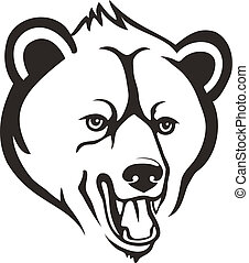 oso, cabeza