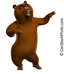 oso pardo, bailando