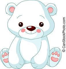 oso polar, diversión, zoo.