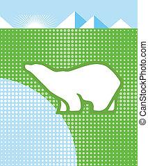 oso polar, y, clima