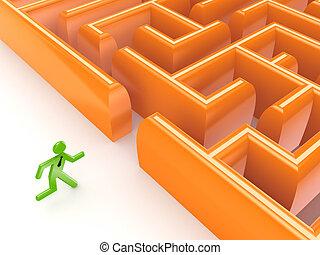 osoba běel, labyrinth., 3, malý