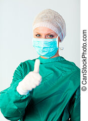 osoba, chirurg, ohnisko, samičí
