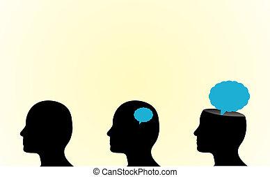 osoba, myslící