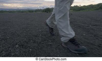 osoba, pieszy, trzęsie się