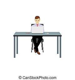osoba, stół., posiedzenie