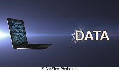 osobisty, data., magazynowanie, internet, online