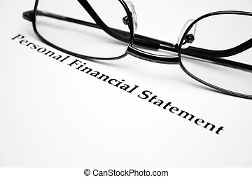 osobisty, finansowa deklaracja