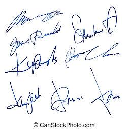 osobisty, podpisy, komplet
