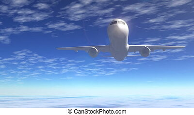 osobowy lot, samolot pasażerski