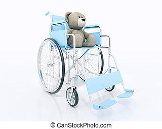 osos, amor, concepto, dos,  teddy