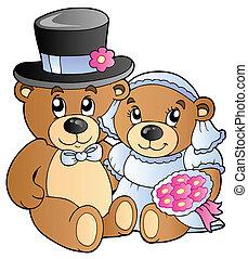 osos, boda, teddy