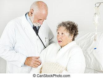 ospedale, esame medico