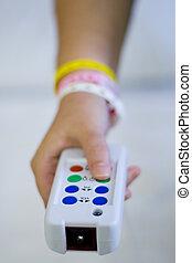 ospedale, infermiera, bottone chiamata