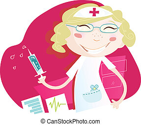 ospedale, infermiera