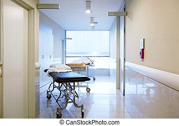 ospedale, interno, corridoio