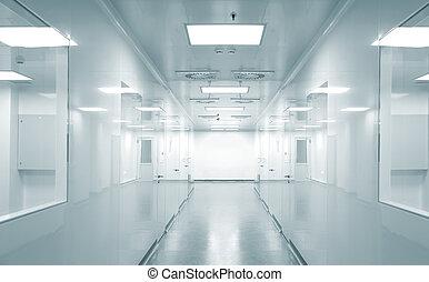 ospedale, laboratorio, ricerca