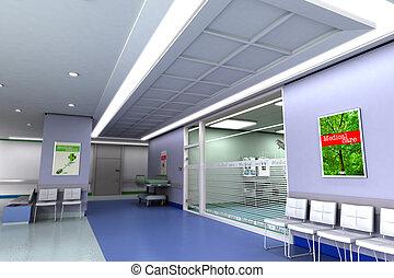 ospedale, moderno