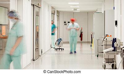 ospedale, sterile, corridoio