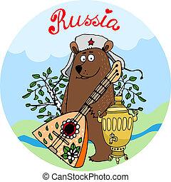 ospitale, balalaika, orso, russo