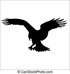 Osprey Silhouette - Birds Silhouettes Vector EPS 10