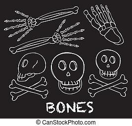 ossa, scarabocchiare