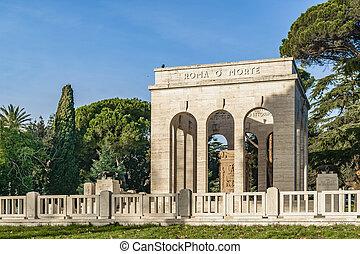 Ossario Garibaldino Mausoleum, Rome, Italy - Ossario ...